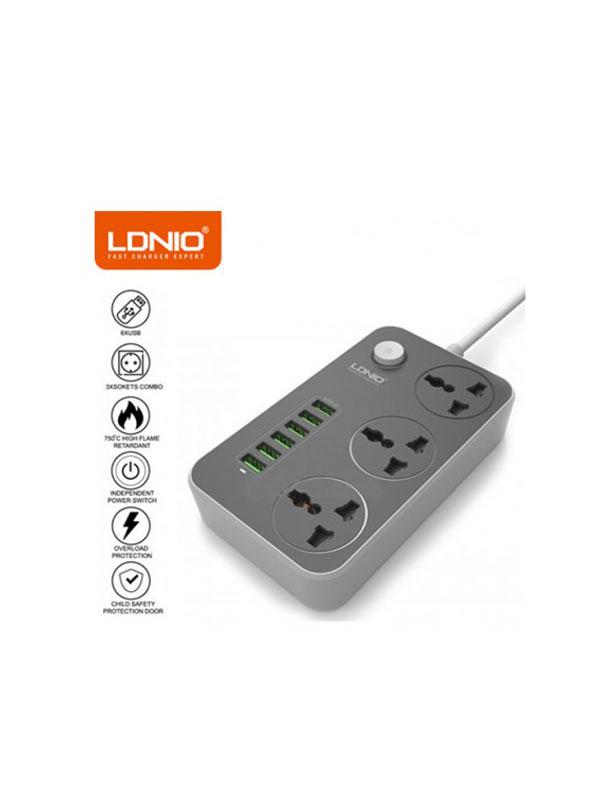 چهار راهی برق و شارژر الدینو مدل LDNIO SC-3604